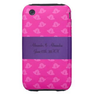 Pink wedding bells wedding favors iPhone 3 tough cover