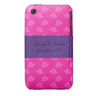 Pink wedding bells wedding favors iPhone 3 case