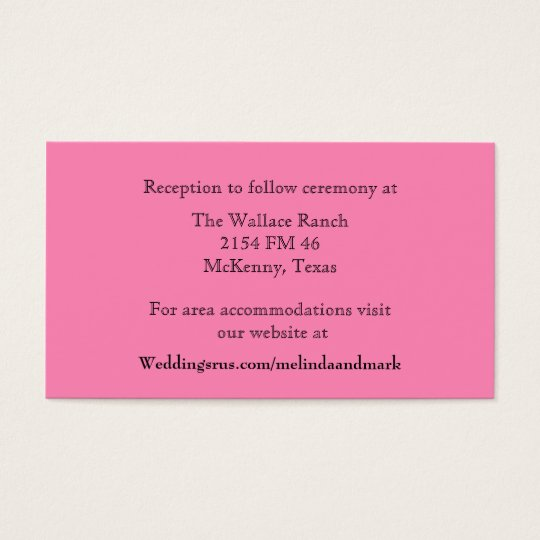 Pink Wedding Enclosure Card