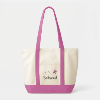 Pink Wedding Party Bridesmaid Tote Bag