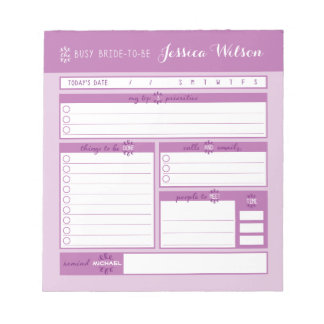 Pink Wedding Planning Notepad
