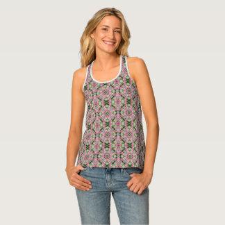 Pink Wedding Quilt (multi print) Mandala Tank Top