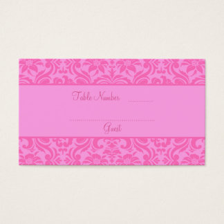 Pink Wedding Reception Table Place Cards