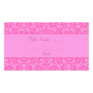 Pink Wedding Reception Table Place Cards Pack Of Standard Business Cards