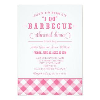 Pink Wedding Rehearsal Dinner | I Do BBQ 13 Cm X 18 Cm Invitation Card