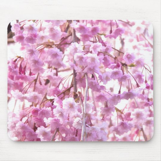 Pink Weeping Willow Flowering Tree Mouse Mat