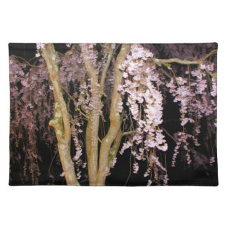 Pink Weeping Willow In The Night Placemat