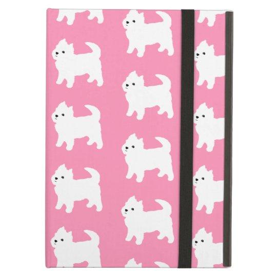 Pink Westie Pattern - West Highland Terrier Dogs