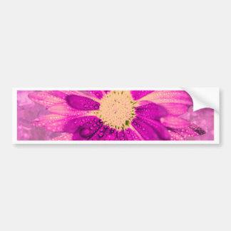 Pink wet Flower Bumper Sticker