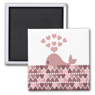 Pink Whale Love Magnet