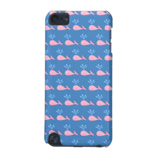 Pink Whale Pattern on Blue. iPod Touch 5G Cover