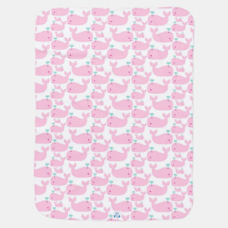 Pink Whales Baby Blanket