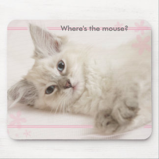 Pink Where s the mouse Mousemat
