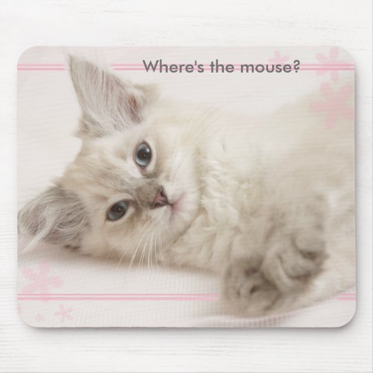 Pink  Where's the mouse? Mouse Mat