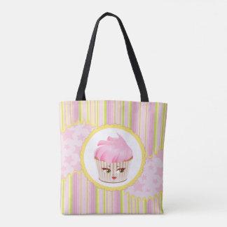 Pink Whimsical Bakery Cupcake Tote Bag
