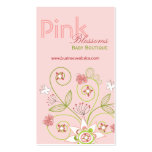 Pink Whimsical Chic Floral Blossoms Profile Card