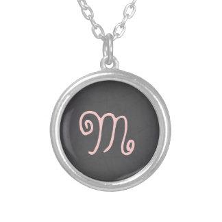 Pink Whimsical Custom Monogram Personalized Necklace