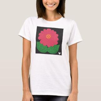 Pink WHIMSICAL FLOWER White Women's SS T-Shirt