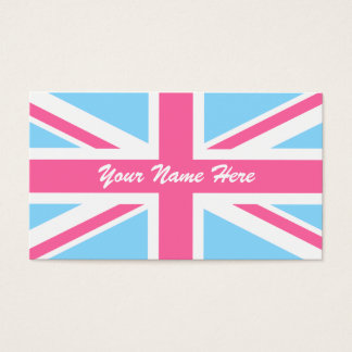 Pink White and Blue Union Jack UK Flag