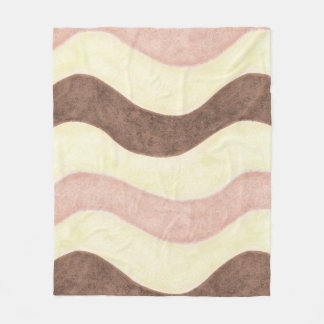 Pink, White and Brown Fleece Blanket