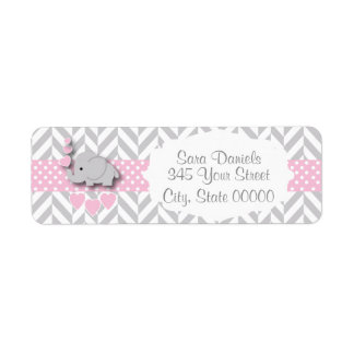 Pink, White and Gray Elephant Baby Shower