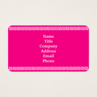 Pink White Aztec Border 4Danielle Business Card