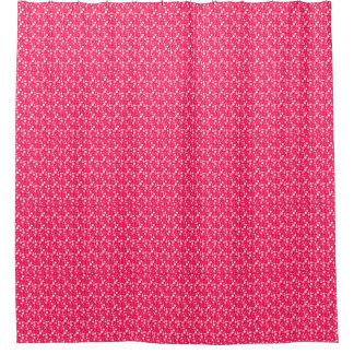 pink white bathroom shower curtain