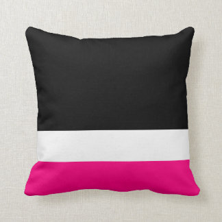 Pink White Black Colorblock Cushion