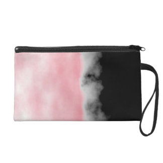 Pink White Black Druzy Geode Slice Crystal look Wristlet Clutches
