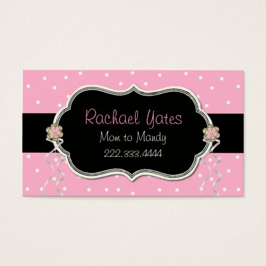 Pink, White, & Black Mummy Play Date Card