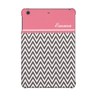 Pink, White, Brown Chevron Savvy iPad Mini Case