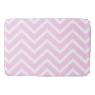 Pink white chevron  modern bath mat