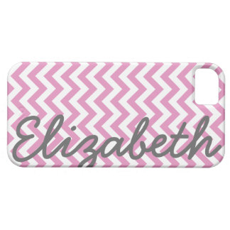 Pink White Chevron Pattern Case For The iPhone 5
