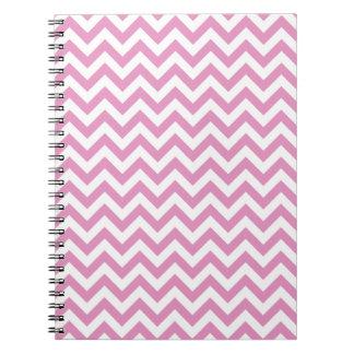 Pink White Chevron Pattern Notebook