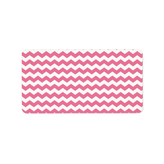 Pink white chevrons label