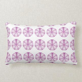 Pink, White Circular Patterned Lumber Cushion