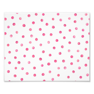 Pink White Confetti Dots Pattern Photograph