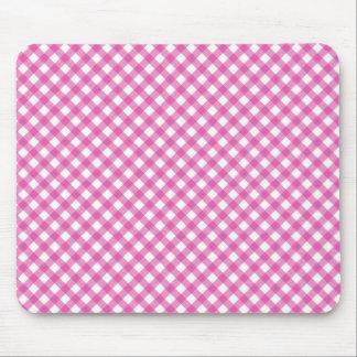 Pink White Criss Cross Diamond Argyle Pattern Gift Mouse Pad