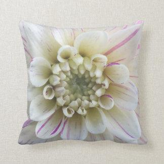 Pink & White Dahlia Cushion