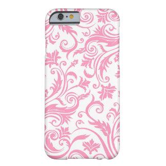 Pink White Damask iPhone 6 Case