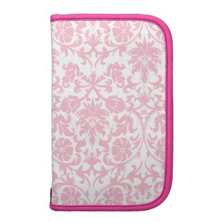 Pink & White Damask Pattern Day Planner Organizer