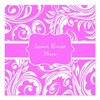 Pink white engagement wedding anniversary invitation
