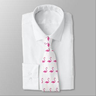 Pink & White Flamingo Tie