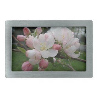 Pink White Flower Belt Buckle