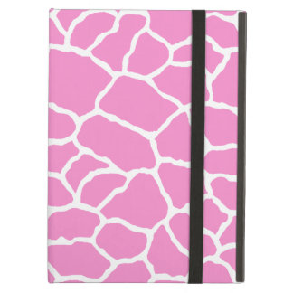 Pink White Giraffe Print Cover For iPad Air