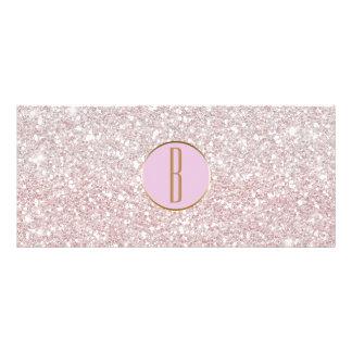 Pink White Glitter Gold Monogram Gift Certificate
