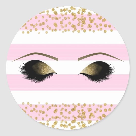 Pink White Gold Makeup Eyelashes Beauty Party Classic
