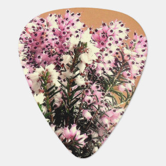 Pink/White Heather  Guitar Pick