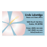 Pink / White Hibiscus Flowers Mummy Contact Card Pack Of Standard Business Cards