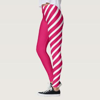 Pink & White Jester Leggings